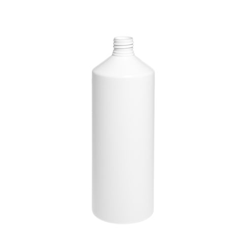 1Ltr White Cylindrical Bottle
