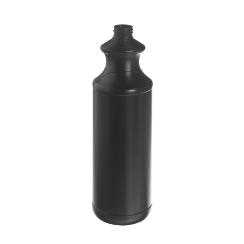 1Ltr Black Snowdon Waisted Bottle