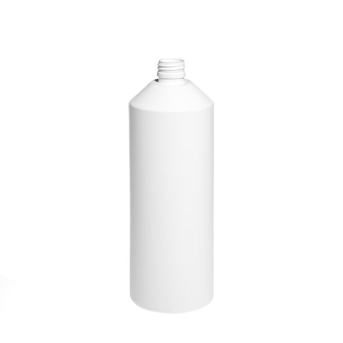 1Ltr White T/E Cylindrical Bottle - 96 qty