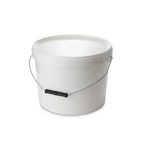 10Ltr Short White Pail with Metal Handle - 25 qty
