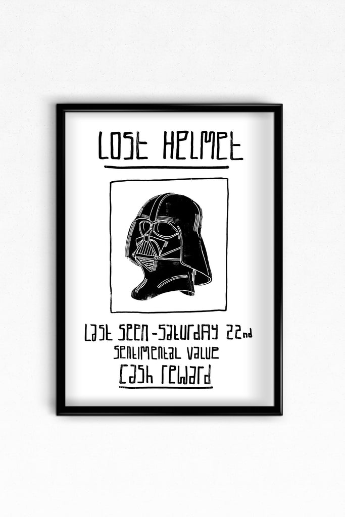 Darth Vader's lost helmet digital print