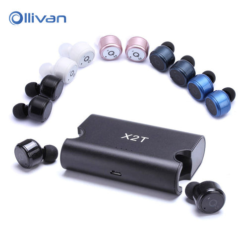 Mini Twins True Wireless Bluetooth Stereo Headset In-Ear Earphones Earbuds X2T - ISaleuk