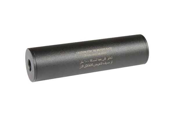 """Stay 100 meters back"" Covert Tactical PRO 40x150mm silencer"