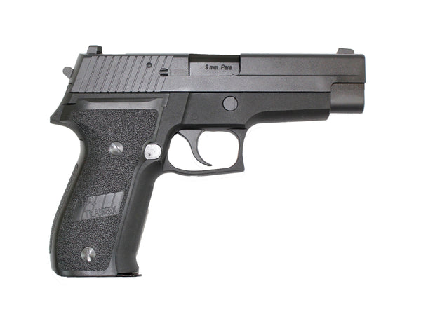WE F226 GAS BLOWBACK AIRSOFT PISTOL BLACK