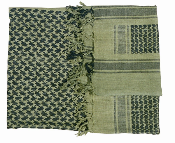 Shemagh Scarf Green/Black