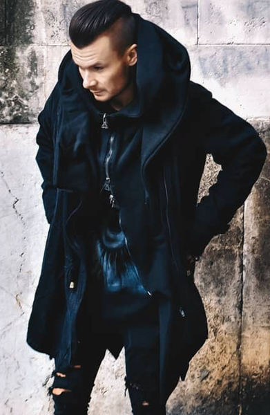 Asymmetric Hooded Trench Coat | Mens Trench Coats | ETTO Boutique