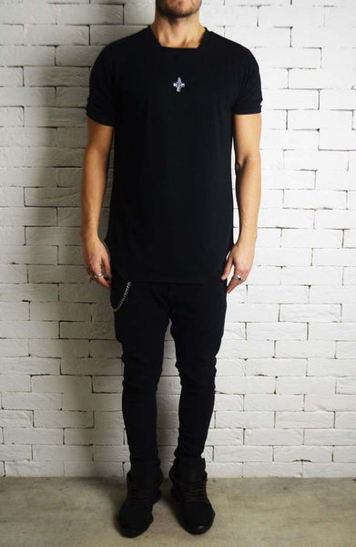 Square Neck T-Shirt | Mens Longline T-Shirts | ETTO Boutique