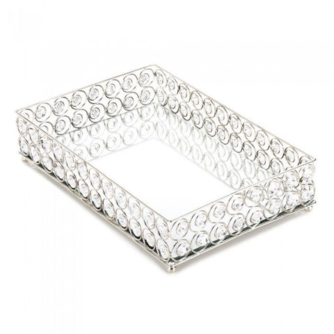 Accent Plus 10017443 Shimmer Rectangular Jeweled Tray