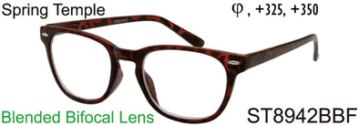 ST8942BBF - Wholesale Unisex Style Bifocal Reading Glasses in Tortoise