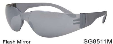 SG8511M - Wholesale Safety Glasses with Flash Mirror Lens