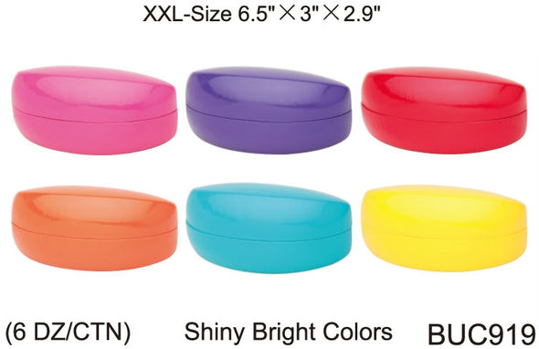 BUC919 - Wholesale Bright Colored Extra Large Clam Case for Sunglasses