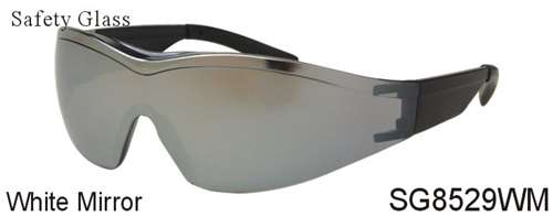SG8529WM - Wholesale Safety Glasses with White Mirror Lens