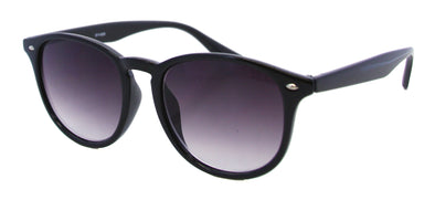 8114SR - Wholesale Fashion Keyhole Style Reading Sunglasses in Black