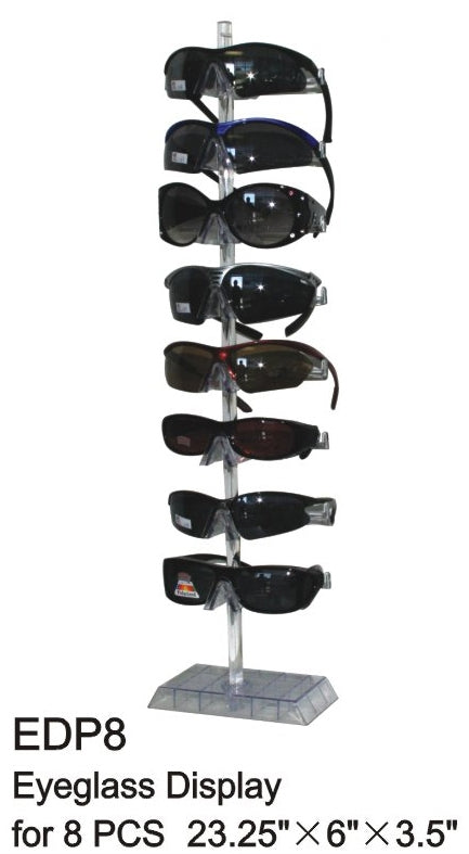 EDP8 - Wholesale Tabletop Eyeglass Display for 8 Pairs