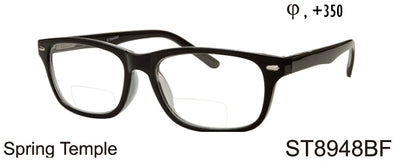 ST8948BF - Wholesale Bifocal Reading Glasses in Black