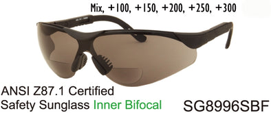 Wholesale Safety Bifocal Reading Sunglasses in Black