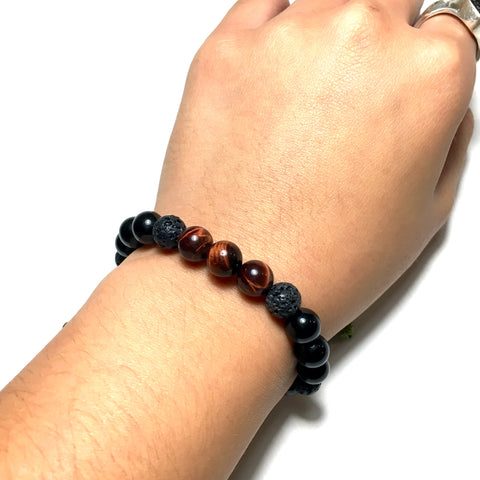 Beaded Bracelet: Red Tiger Eye