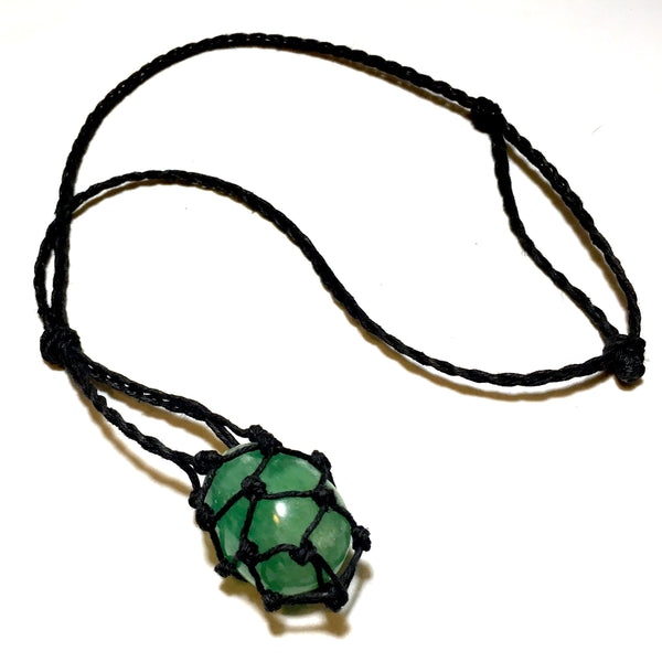 green fluorite necklace interchangeable stone