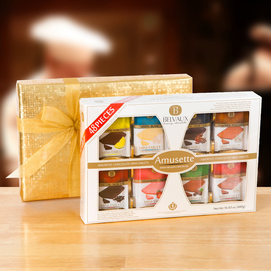 Gift-Wrapped 48-piece Belgian Amusette Sampler
