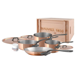Mauviel Cookware Sets Mauviel M'150c 7-Piece Copper Cookware Set with Crate JL-Hufford