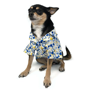 Cute dog shirt with bubbles print