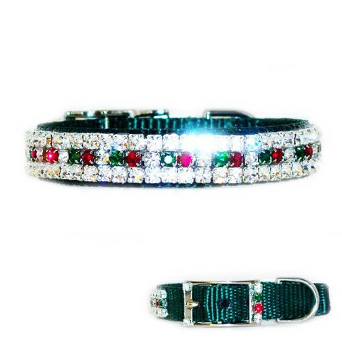 Holiday Lights Swarovski Pet Collar - For dogs and cats - dog-collar-fancy