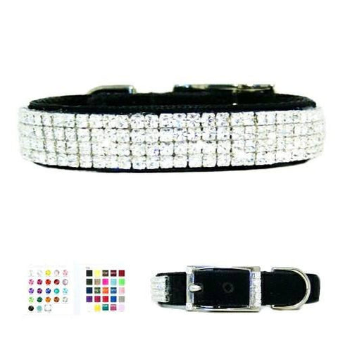 Star Diamonds Low Profile Crystal Collar - For dogs and cats - dog-collar-fancy