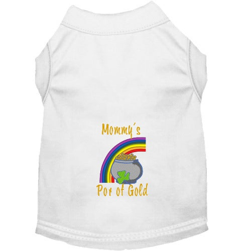 Mommy's Pot of Gold St Patty's Dog Shirt - Small to Large Dogs - dog-collar-fancy