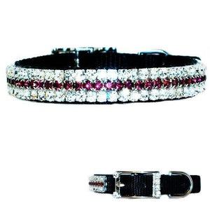 Plum Diamonds Pet Collar - For dogs and cats - dog-collar-fancy
