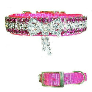 So Special Pink Jeweled Pet Collar - For dogs and cats - dog-collar-fancy