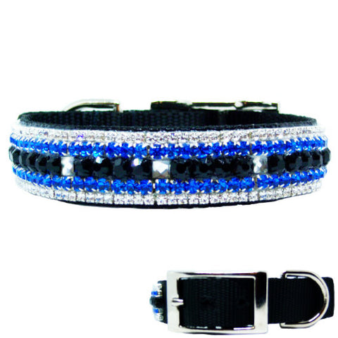 Mr Cool Crystal Boy Dog Collar - For medium to large dogs - dog-collar-fancy