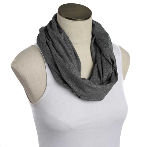 Solid Gray Nursing Scarf