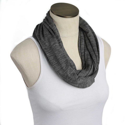 Winter Gray Nursing Scarf