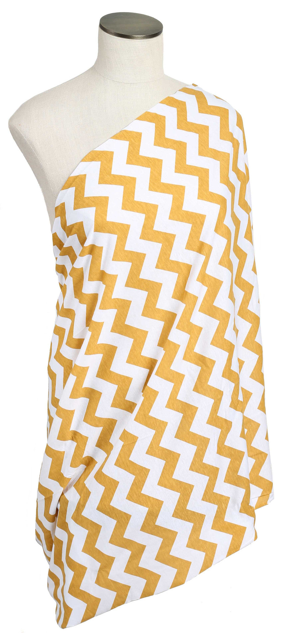 Mustard Yellow Chevron Nursing Scarf