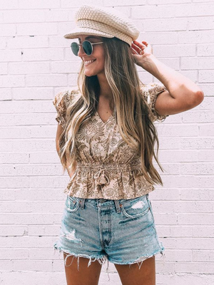 Spell & the Gypsy Lioness Cap Sleeve Blouse | Southern Hippie Austin, Texas