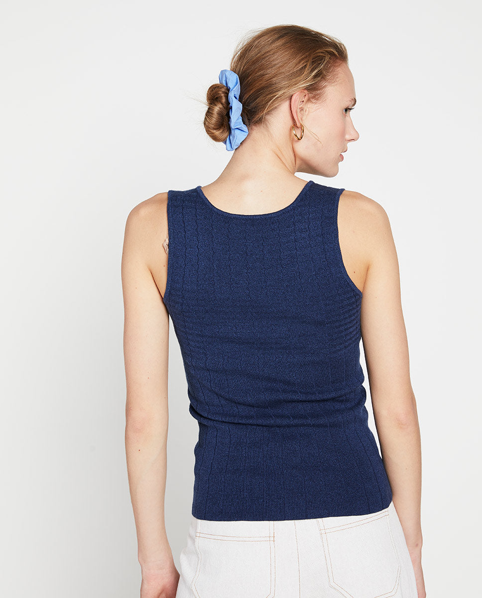 Zigzag Top Navy