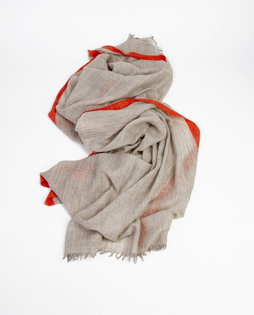 Grey scarf - Khadi & Co