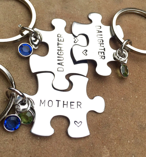Mother Daughter Gifts, Mother Daughter Puzzle Key chains, Gifts for mom, Gifts for Daughter, natashalaoha - Natashaaloha, jewelry, bracelets, necklace, keychains, fishing lures, gifts for men, charms, personalized,