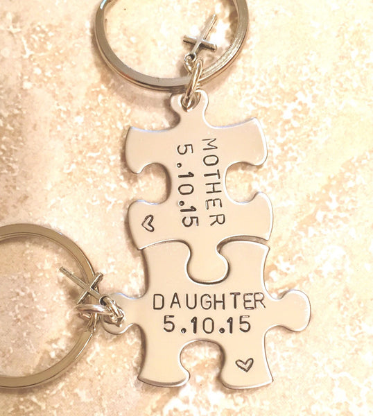 Mother Daughter Gifts-, Mother Daughter Keychain-, Valentine Mother Daughter, Mother's Day Gift -, Personalized Keychains-, natashaaloha - Natashaaloha, jewelry, bracelets, necklace, keychains, fishing lures, gifts for men, charms, personalized,