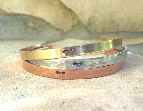 Arrow Bracelet, Handmade Arrow Cuff, Skinny Cuff Bracelet, Natashaaloha - Natashaaloha, jewelry, bracelets, necklace, keychains, fishing lures, gifts for men, charms, personalized,