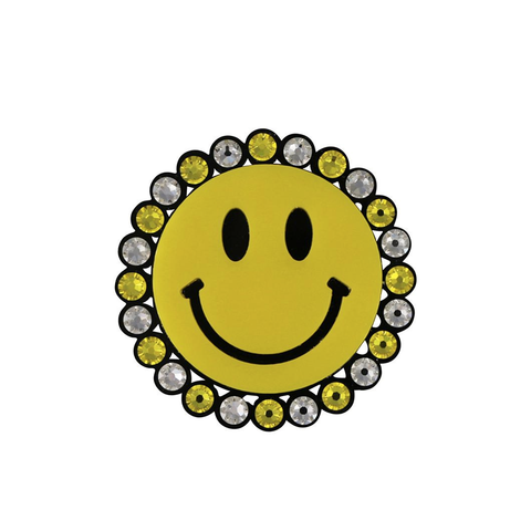 Smiley Face Brooch (Yellow)