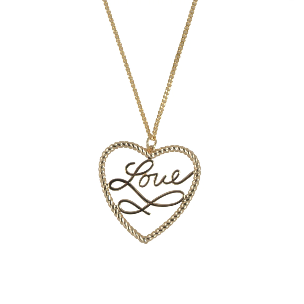Gold Love Rope Necklace