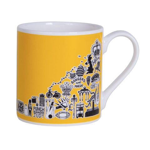 Yellow British Mug