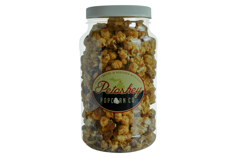 Old Fashioned Double Nut Crunch Caramel Corn