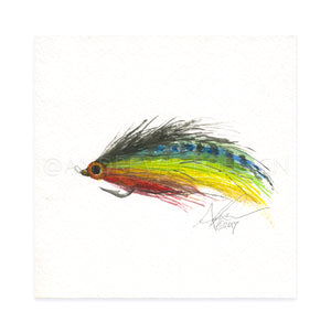 "Saltwater Fly Pattern, 6x6"" Original"