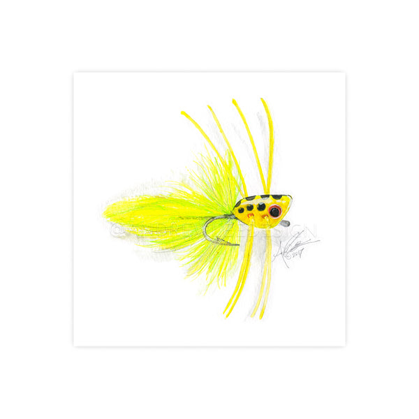 Chartreuse Spotted Popper Fly