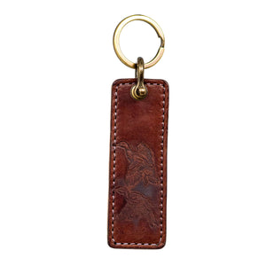 Pair of Mallards Leather Keychain, Handcrafted