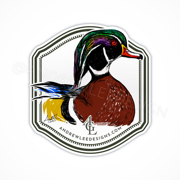 Wood Duck on Water Decal