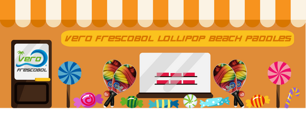 Frescobol Lollipop Beach Paddle Kit