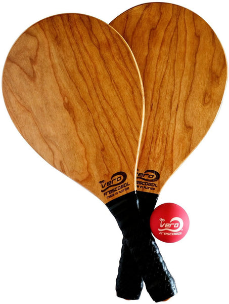 Cherry Wood Frescobol Beach Paddle Kit